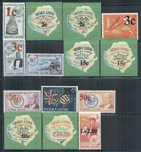 SIERRA LEONE 286-99 SG336-49 MLH 1965 Decimal Currency set of 14 Cat$51