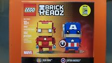 NEW! LEGO 41492 Ironman & Captain America Brick Headz SDCC 2016 Brickheadz