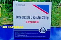 Omeprazole 20 mg OTC 100 Capsules Acid Re flux Heart Burn Reducer Treatment