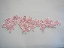 Bébé rose mariage floral dentelle applique/mariage motif de dentelle pour la vente. vendu par pièce