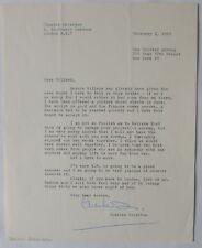 Charles Crichton signed letter/1963