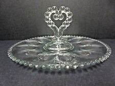 Candlewick Deviled Egg Tray with Heart Shaped Center Handle  / Imperial Glass Co