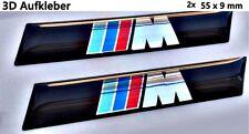 2x ///M BMW  3D Logo Aufkleber-Abzeichen Set M1 M3 M5 M6 X5 X6 Z3 Z4 1M