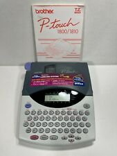 Brother P Touch Label Maker Model Pt 18001810 Labeling System With Manual