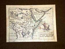 Mappa Abissinia Theatrum Orbis Terrarum 1724 Abraham Ortelius A.Ortelio Ristampa
