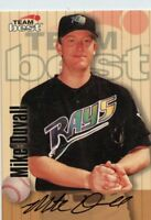 MIKE DUVALL 1998 BASEBALL TEAM BEST SIGNATURE SERIES AUTO AUTOGRAPH TAMPA RAYS