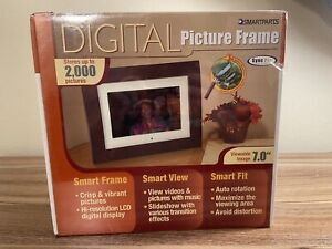 Smartparts Digital Picture Frame 7 inch LCD Display 256GB 2000 Photo -SEALED