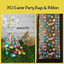 Easter plastic party bags ebay x10 easter rabbit treat bag gifts egg presentation party bags cello negle Image collections