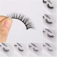 100% Mink Hair Natural Long Eye Lashes False 3D Eyelashes Handmade Makeup 2PCS