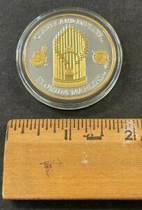 1997 FL MARLINS WORLD CHAMPIONSHIP .999 SILVER 1 OZ COIN W/24KT GOLD NIB (AM)