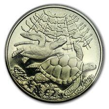 2017 British Indian Ocean Territory 1/3 oz Green Titanium Turtle