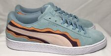 """Puma Suede Classic """"COAST PACK"""" Low Top Teal Blush Red 36753802 Men's Size 9.5"""