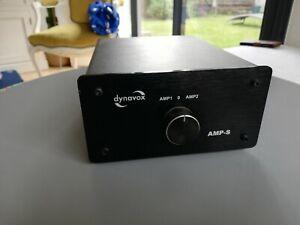 Dynavox AMP-S Noir Amplificateur / Sélecteur 2 Pour 1 Jusqu'À 200 W