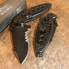 MTECH BALLISTIC Spring ASSISTED Opening Glass Breaker BLACK Pocket Knife NEW!!