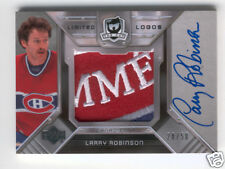 2006 07 CUP LARRY ROBINSON LOGO AUTO PATCH 50 CANADIENS