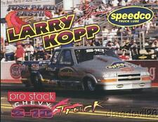 2000 Larry Kopp Speedco Chevy S-10 Pro Stock Truck NHRA postcard