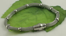 Gatik BR1009 Ladies 316L Stainless Steel Chain Mesh Bracelet With Magnetic Clasp