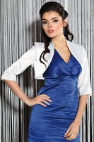 New Women Wedding Prom Party Satin Stole Jacket Bolero Shrug UK Size 6-20
