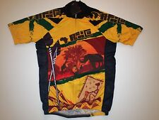 New size Small / S - AFRICA Team African Theme Cycling Road Bike Jersey Lion