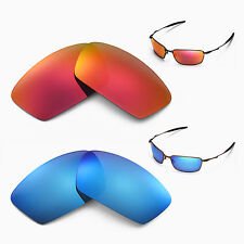 New Walleva Polarized Fire Red + Ice Blue Lenses For Oakley Square Whisker