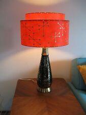 Mid Century Vintage Style 2 Tier Fiberglass Lamp Shade Modern Atomic Starburst t