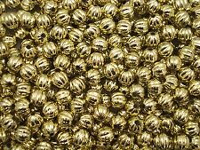 Melon Beads Round 9mm Gold 100g Bulk Pack Spacer Craft Jewellery FREE POSTAGE