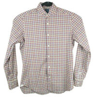 Barba Napoli Dandylife Mens Long Sleeve Button Shirt Plaid Size 39 15.5