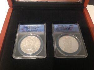 2009-P Abraham Lincoln President Dollar 2-Coin Set ANACS PR70 MS70 FR $1 b13