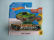 Diecast Hotwheels HW Art Cars Chevy Silverado Green on Blister