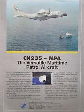 7/1992 PUB IPTN CASA CN-235 MPA MARITIME PATROL AIRCRAFT FLIR ORIGINAL AD