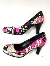 Tuk Rock N Bowl Print Pumps Heels Shoes Size 6