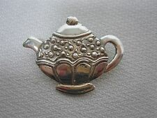 Silver Teapot Pin Brooch Signed Me Mary Engelbreit Sterling