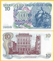 Sweden 10 Kronor p-56 1968 Commemorative UNC Banknote