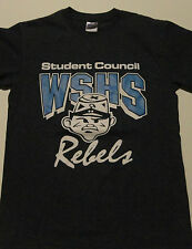 HIGH SCHOOL Student Council Confederate REBEL MASCOT T-Shirt Gray FREE Shipping