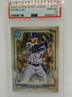 2020 Topps Gypsy Queen #174 Gavin Lux Los Angeles Dodgers PSA 10 Rookie RC