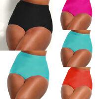 Women's High Waist Bikini Tankini Bottoms Swim Briefs Swim Pants Solid Panties