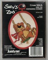 Vintage Janlynn Counted Cross Stitch Kit Suzy's Zoo Swinging Homer 38-134