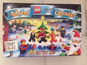 LEGO City 7687 Advent Calendar 2009. Free Shipping. Brand New. Sealed Rare
