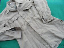 EARLY WWII US ARMY OD WOOL ENLISTED UNIFORM SHIRT 15-33