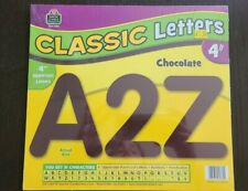 """Chocolate Classic 4"""" Letters Uppercase Pack Teacher Created Resources Tcr5384"""