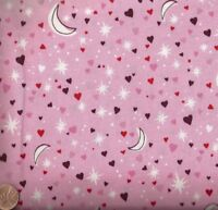 City Stars and Hearts pink Alexander Henry fabric