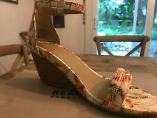 Kenneth Cole Cake Shop 2 Women's Wedge Sandal Size 8 Med. Orange Multi