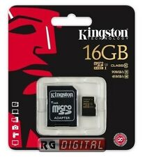 MICRO SDHC CARD KINGSTON CLASSE 10 (SDCA10/16GB) 16GB CON ADATTATORE
