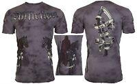 AFFLICTION Mens T-Shirt RIDER Headless Horseman Tattoo Biker MMA  Jeans $62