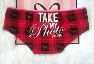 Details about  /NWT Victorias Secret PINK Red Plaid Cheekster Panty NWT Size M Low Rise