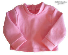 "Pink Long Sleeve T-Shirt fits 18"" American Girl & Bitty Baby Doll Clothes"