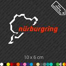 Nurburgring car sticker decal vinyl - White and Red