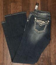 NWT Miss Me Jeans Size 30 Boot Cut Zebra Print Pockets