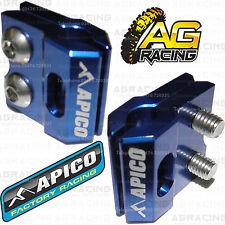 Apico Blue Brake Hose Brake Line Clamp For Suzuki RM 125 2015 Motocross Enduro