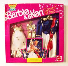 NEW VTG ©1991 MATTEL BARBIE & KEN GREAT DATE FASHIONS PRINCE & PRINCESS COSTUMES